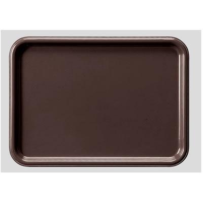 送料無料 Daiwa プラスチック製 業務用トレー 飲食店 食堂 10個セット/10個以上端数注文可 メラミン長角トレー・小 ブラウン(331×240×H18mm) (台和)[AP-12-BR]