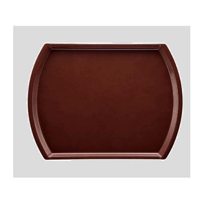 送料無料 Daiwa|プラスチック製|業務用|飲食店|食堂|施設|FRP 10個セット/10個以上端数注文可 オーバルトレー・小 チョコレート(400×280×H20mm) (台和)[AP-2028-CH]