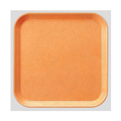 送料無料 Daiwa|プラスチック製|業務用|飲食店|食堂|施設|FRP 10個セット/10個以上端数注文可 正方トレー ライトオレンジ(330×330×H20mm) (台和)[AP-330-LO]