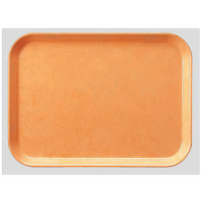 送料無料 Daiwa|プラスチック製|業務用|飲食店|食堂|施設|FRP 10個セット/10個以上端数注文可 長角トレー ライトオレンジ(410×302×H20mm) (台和)[AP-410-LO]