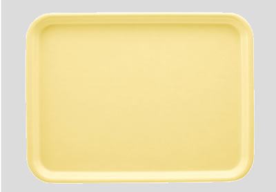 送料無料 Daiwa|プラスチック製|業務用|飲食店|食堂|施設|FRP 10個セット/10個以上端数注文可 長角トレー パステルイエロー(440×330×H20mm) (台和)[AP-440-PY]