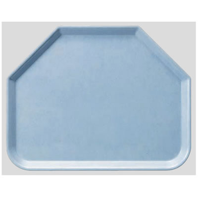 送料無料 Daiwa|プラスチック製|業務用トレー|飲食店|食堂|施設|FRP 10個セット/10個以上端数注文可 六角トレー ライトブルー(445×355×H20mm) (台和)[AP-650-LB]