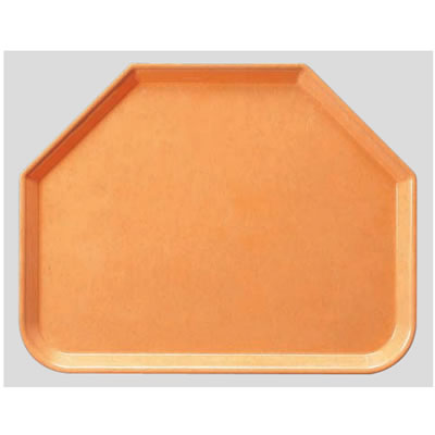 送料無料 Daiwa|プラスチック製|業務用トレー|飲食店|食堂|施設|FRP 10個セット/10個以上端数注文可 六角トレー ライトオレンジ(445×355×H20mm) (台和)[AP-650-LO]