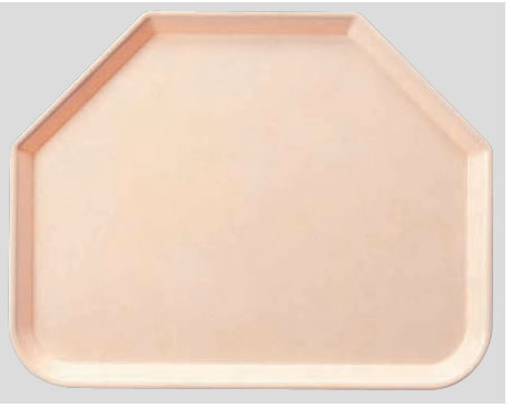 送料無料 Daiwa|プラスチック製|業務用トレー|飲食店|食堂|施設|FRPトレー 10個セット/10個以上端数注文可 六角トレー ピンク(445×355×H20mm) (台和)[AP-650-P]