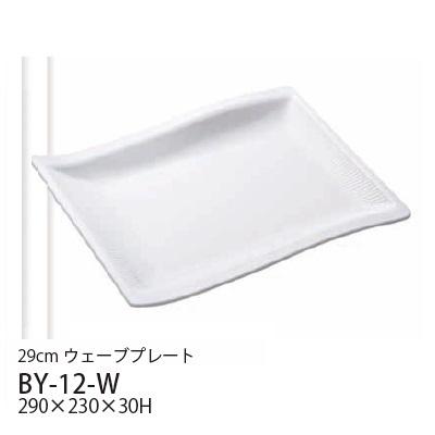 送料無料 Daiwa メラミン食器 業務用 10点セット LUCE(ルーチェ) 29cmウェーブプレート(290×230×H30mm) (台和)[BY-12-W] プラスチック製 白