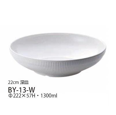 Daiwa メラミン食器 業務用食器 10点セット LUCE(ルーチェ) 22cm 深皿(φ222×H57mm・1300ml) (台和)[BY-13-W]プラスチック製 白 プレート 器 洋風