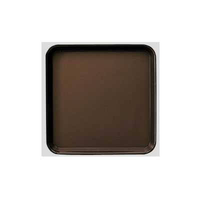 Daiwa|プラスチック製|業務用トレー|飲食店|カフェ|食堂 10個セット/10個以上端数注文可 PPノンスリップトレー ブラウン(330×330×H24mm) (台和)[DP-11-BR-NS]