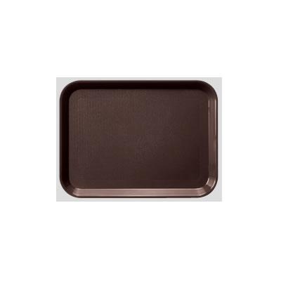 送料無料 Daiwa|プラスチック製トレー|飲食店|食堂 10個セット/10個以上端数注文可 PPノンスリップトレー ブラウン(455×350×H20mm) (台和)[DP-81-BR-NS]