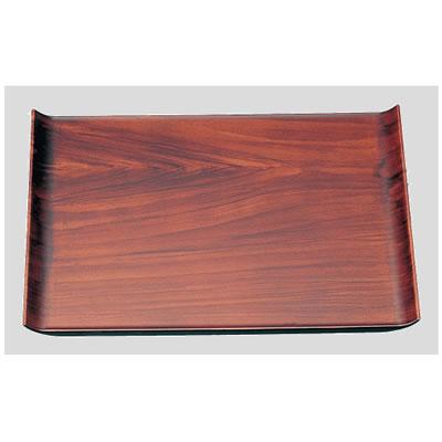 送料無料 Daiwa|プラスチック製|ノンスリップトレー|カフェ|ウッド調 10個セット/10個以上端数注文可 尺3ウイングトレー チーク木目(396×283×H22mm) (台和)[ND-1020]