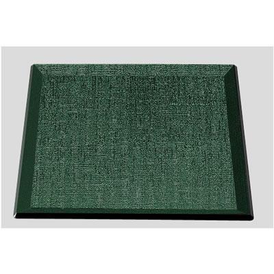 送料無料 Daiwa|プラスチック製|ノンスリップトレー 10個セット/10個以上端数注文可 尺1寸耐熱布目角盆ノンスリップ グリーン天黒(330×330×H20mm) (台和)[ND-813-G]
