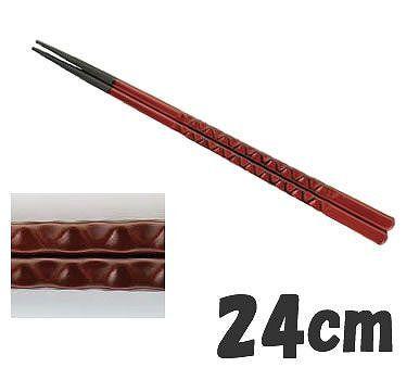 送料無料! 箸 業務用箸 24cm PBT樹脂製 PBT亀甲箸 (10膳入) 根来 24cm (6-1644-1502)