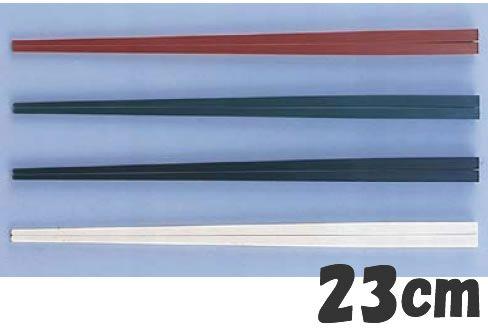 箸 業務用箸 23cm PBT樹脂製 ニューエコレン中華箸 23cm ノーマル(50膳入) レッド(50膳入) (7-1721-2601)