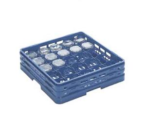 【食器洗浄機用ラック】【プラスチック製】【業務用】マスターラックグラスラックブルー(KK-6025-185)【関東プラスチック工業】