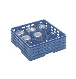 【食器洗浄機用ラック】【プラスチック製】【業務用】マスターラックステムウェアラックブルー(KK-7009-178)【関東プラスチック工業】