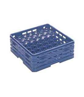 【食器洗浄機用ラック】【プラスチック製】【業務用】マスターラックステムウェアラックブルー(KK-7049-273)【関東プラスチック工業】