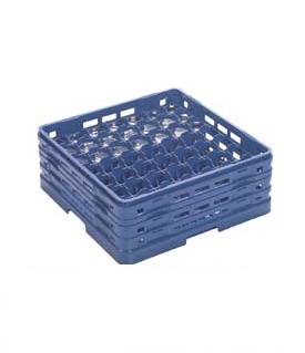 【食器洗浄機用ラック】【プラスチック製】【業務用】マスターラックステムウェアラックブルー(KK-7049-83)【関東プラスチック工業】