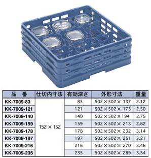 【食器洗浄機用ラック】【プラスチック製】【業務用】マスターラックステムウェアラックブルー(KK-7009-159)【関東プラスチック工業】