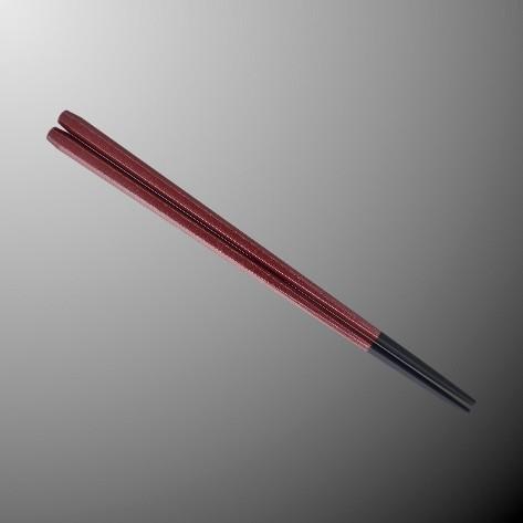※50個セットPBT(塗り) 22.5cm六角箸 226Xmm シルバーレッド[H92SRD] マルケイ 業務用 E3