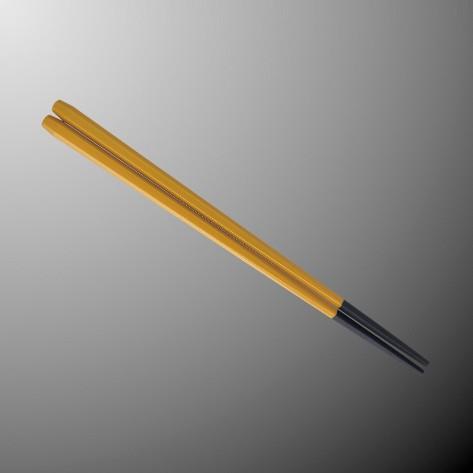 ※50個セットPBT(塗り) 22.5cm六角箸 226Xmm うこん[H92UKN] マルケイ 業務用 E3