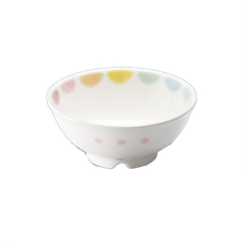 食洗機・消毒保管庫使用可。飯茶碗 飯椀 汁碗 強化磁器製子供用食器 マカロン(パワーセラ) 乳児碗 (107×47mm・210cc) 三信化工[YB-111MACA] 業務用 保育園・幼稚園向け