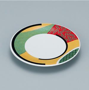 ※受注生産品 100枚セット/メラミン製寿司皿 回転寿司 高台和皿(デゴール) スリーライン[505-MD] 食器 寿司用 和皿 取り皿 プラスチック製