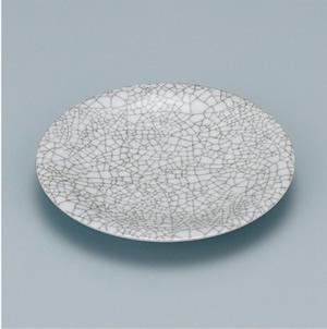 ※受注生産品 100枚セット/メラミン製寿司皿 回転寿司 高台和皿(石目) スリーライン[505-MI] 食器 寿司用 和皿 取り皿 プラスチック製 業務用