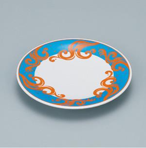 ※受注生産品 100枚セット/メラミン製寿司皿 回転寿司 高台和皿(マリンブルー) スリーライン[505-MMB] 食器 寿司用 和皿 取り皿 プラスチック製