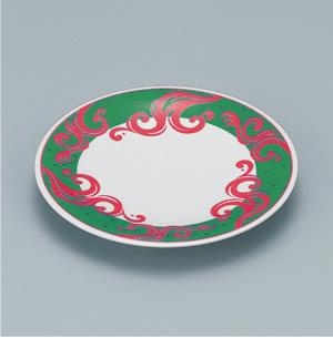 ※受注生産品 100枚セット/メラミン製寿司皿 回転寿司 高台和皿(マリングリーン) スリーライン[505-MMG] 食器 寿司用 和皿 取り皿 プラスチック製