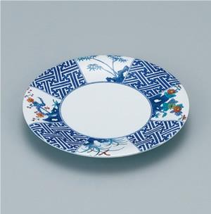 ※受注生産品 100枚セット/メラミン製寿司皿 回転寿司 高台和皿(染錦) スリーライン[GS-505] 食器 回転寿司皿 和皿 取り皿 プラスチック製 業務用