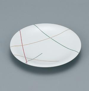 ※受注生産品 100枚セット/メラミン製寿司皿 回転寿司 高台和皿(マイントリオ) スリーライン[LG-505] 食器 寿司用 和皿 取り皿 プラスチック製