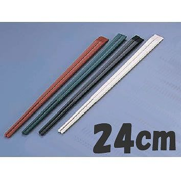 箸 24cm PBT樹脂製 ニューエコレン箸和風 天削箸 (50膳入) 24cm グリーン(6-1643-2202)
