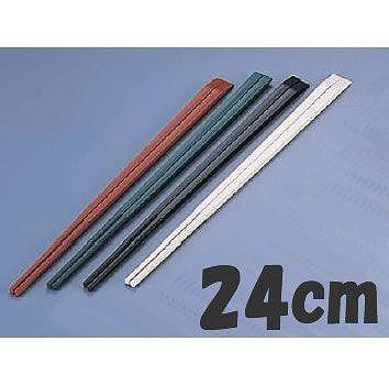 PBT樹脂製 24cm 24cm (50膳入) ブラック(6-1643-2203) 箸 ニューエコレン箸和風 天削箸