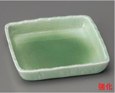 強化セラミック/向付 送料無料 10個セット/10個以上端数注文可 うつわ 緑青磁5.0正角鉢 15.3×15×2.7cm 06220783 [62-20-783]