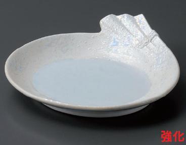 強化セラミック/和皿・前菜皿 送料無料 10個入 うつわ 真珠ラスター結び皿 17.8×18×4.6cm 22420753 [224-20-753]