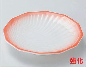 強化セラミック/フルーツ皿・取皿 送料無料 10個セット/10個以上端数注文可 うつわ ピンク吹5.0皿 15×2.3cm 25604711 [278-3-713]