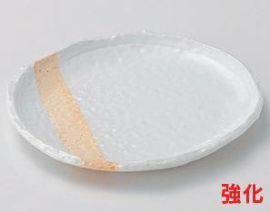 強化セラミック/フルーツ皿・取皿 10個セット/10個以上端数注文可 うつわ 粉引塗分銘々皿 13.5×12.5×1.2cm 25810701 [282-2-703]