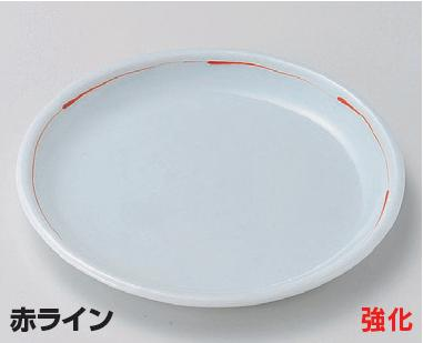 強化セラミック/組小皿 10個セット/10個以上端数注文可 うつわ 赤ライン5.0丸皿 15.5×1.5cm 28910783 [289-10-783]