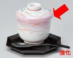 強化セラミック 紫吹武蔵野京型むし碗 7.4×8.2cm(210cc) うつわ(Vol.15)[311-1-525] 10点セット/10点以上端数注文可