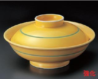 強化セラミック/蓋向・煮物碗・円菓子碗 送料無料 10個入 うつわ 黄釉蓋向 16.5×8.5cm 31320782 [311-17-783]