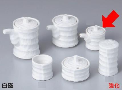 強化セラミック/卓上小物 送料無料 10個セット/10個以上端数注文可 うつわ 白磁つづみミニ汁次 6.4×4.5×5.4cm(40cc) 35610751 [356-38-753]