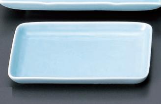 【強化セラミック/和食器】【送料無料】【10個セット/10個以上端数注文可】うつわ 深山青磁 6.0長角皿 17×12×1.8cm 54875671 [528-73-673]