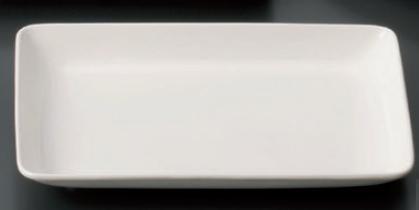 【軽量強化セラミック/和食器】【送料無料】【10個セット/10個以上端数注文可】うつわ ナーシングウェア 20cm長角皿 20.3×13.6×2.6cm 56883273 [568-83-273]