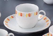 【強化磁器/洋食器】【送料無料】【10個セット/10個以上端数注文可】うつわ パーマナンスオレンジ コーヒーC/S(カップ・ソーサー) 7.6×6.5cm 63364051 [652-64-053]
