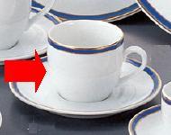 【強化セラミック/洋食器】【送料無料】【10個セット/10個以上端数注文可】うつわ マリーンブルー コーヒー碗 180cc 63470601 [653-40-603]