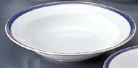 強化セラミック マリーンブルー 9吋スープ皿 23.2×4.5cm うつわ(Vol.15)[639-16-625] 10点セット/10点以上端数注文可