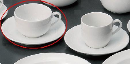 強化磁器 ダイヤ・セラム 紅茶C/S 8.8×5.4cm(200cc) うつわ(Vol.15)[613-30-055] 10点セット/10点以上端数注文可
