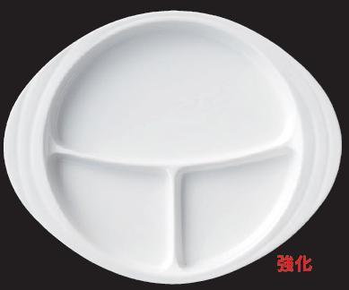 強化セラミック/真っ白の食器! 送料無料 10個セット/10個以上端数注文可 うつわ ボーダレス・スタイル ランチプレート(大) 69510731 [621-4-733]
