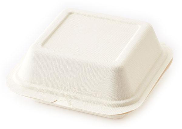 ※代引不可※送料無料 電子レンジ対応 使い捨て容器 HEIKOバガス フードパックC 15cm CNFD165 50枚入/袋×16袋(1ケース800枚入り)