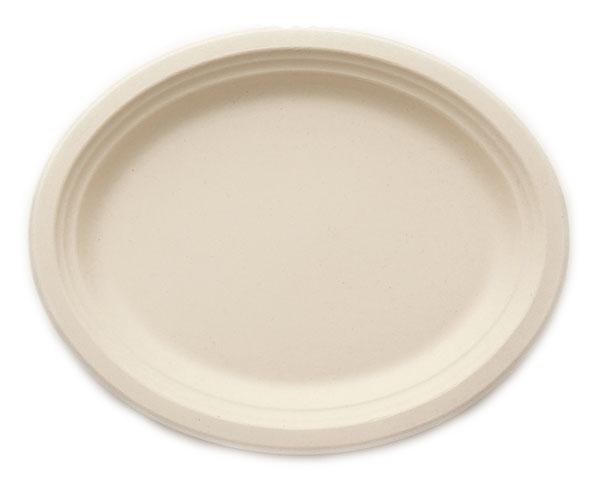 ※代引不可※送料無料 HEIKO 紙皿 バンブーペーパーウエア プレート 楕円皿 大皿 BOP-25 20枚入/袋×25袋(1ケース500枚入り)