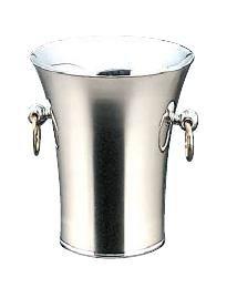 ワイン用品 ワイン・シャンパンクーラー トリオ 18-8ステンレス製 二重パーティークーラー A型 (目皿・トング付) 1.2L (7-1815-2201)